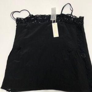 e78051904bfe2 Gold Hawk Tops - Gold Hawk Cami Janice Silk Top W  Crochet in Black